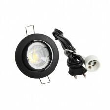 LED spot compleet, 2700K 5 Watt, Frame zwart