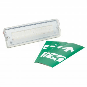 Vluchtwegverlichting wandopbouw LED 3 watt inclusief pictogrammen