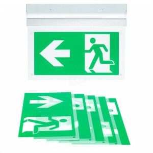 vluchtwegverlichting opbouw wand of plafond LED 3 watt inclusief pictogrammen