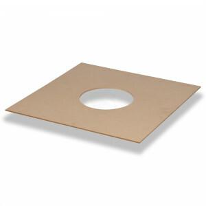 Houten spotplaat MDF, 590x590 met sparing rond 225 mm