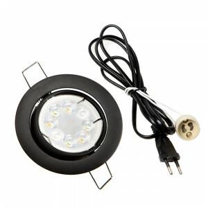 LED spot compleet, RGBW-CCT 4 Watt, Frame zwart