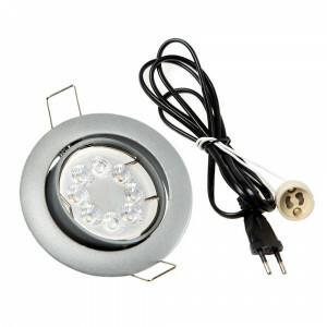 LED spot compleet, RGBW-CCT 4 Watt, Frame zilver