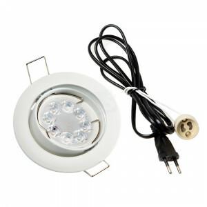 LED spot compleet, RGBW-CCT 4 Watt, Frame wit