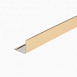 Hoeklijn CMC 3050 mm 24x24 mm kleur hoogglans goud