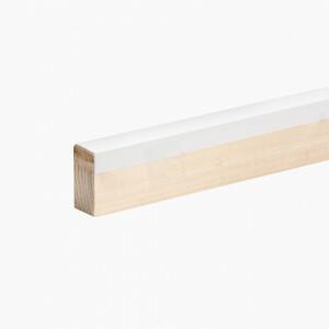 Kantlat wit 1 lengte van 270 cm