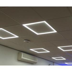 LED paneel hollow 60x60, 4000 kelvin, compleet voor T-15 smal systeem