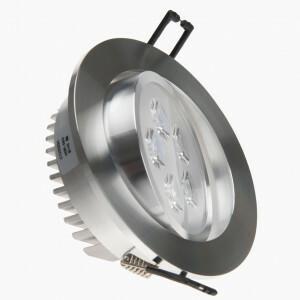 led spot 5x1 W 109 mm aluminium gekanteld
