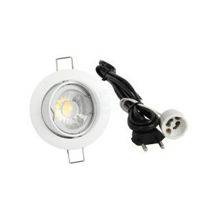 LED spot compleet, 4000K 5 Watt, Frame wit, voordeel