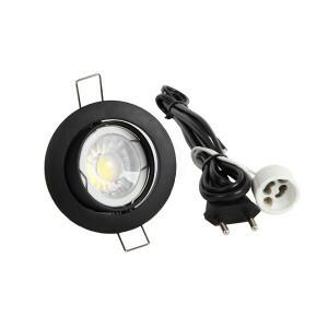 LED spot compleet, 2700K dimbaar 5 Watt, Frame zwart