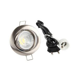 LED spot compleet, 2700K dimbaar 5 Watt, Frame chroom