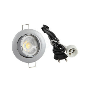 LED spot compleet, 2700K 5 Watt, Frame zilver