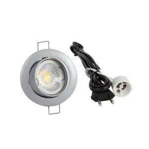 LED spot compleet, 4000K 5 Watt, Frame zilver